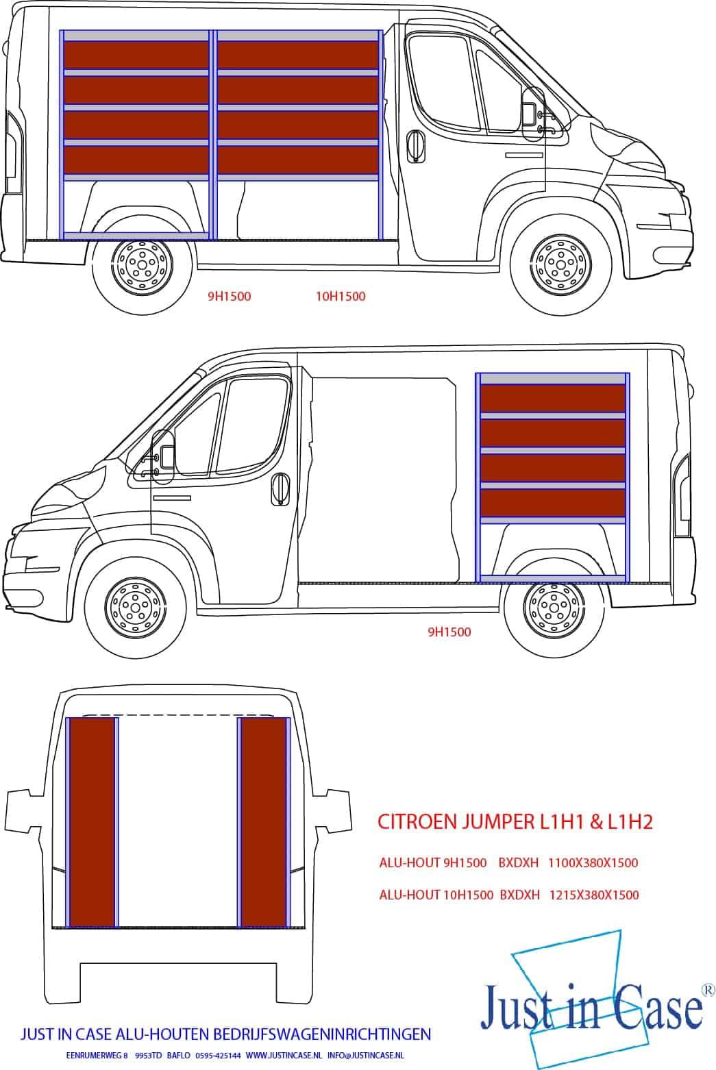 Citroën Jumper bedrijfswageninrichting