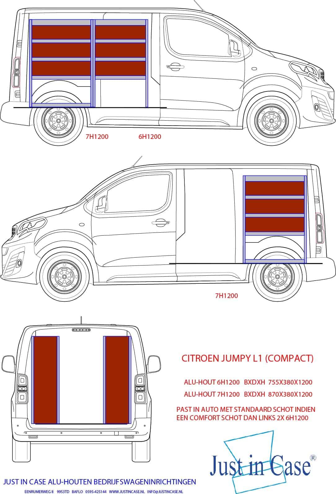 Citroën Jumpy bedrijfsbus inrichting