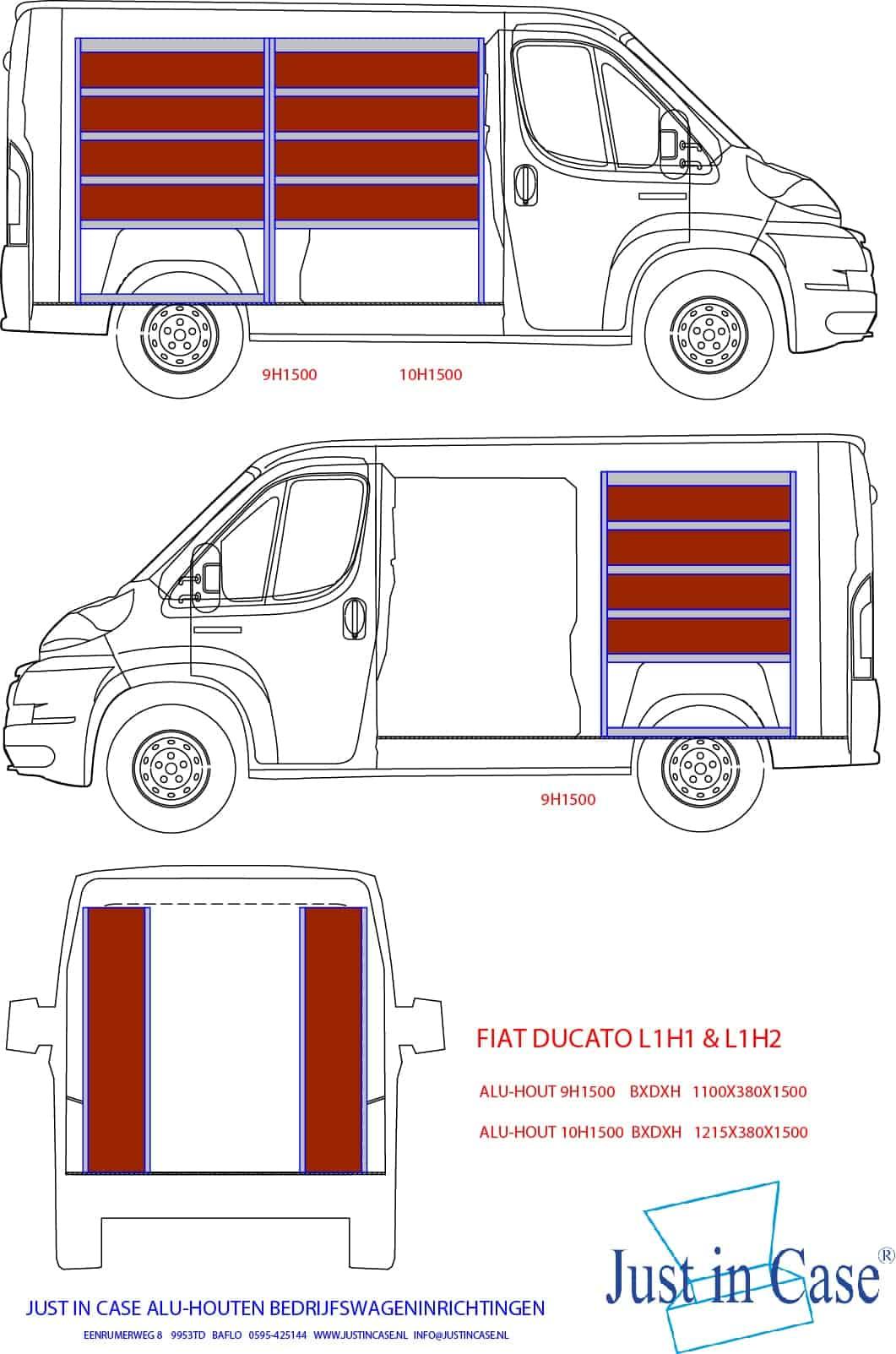 Fiat Ducato bedrijfswagen inrichten
