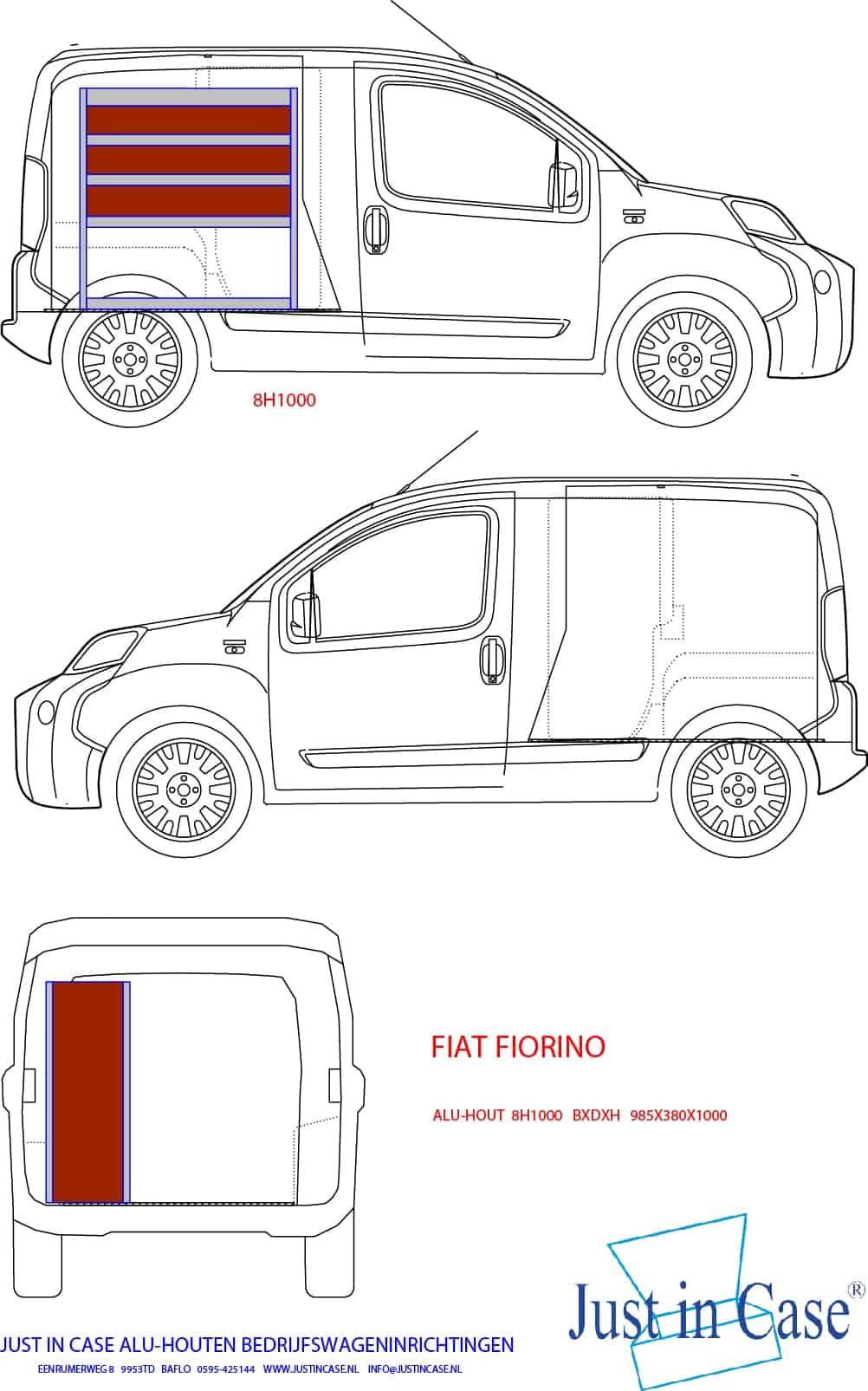 Fiat Fiorino bedrijfwageninrichting