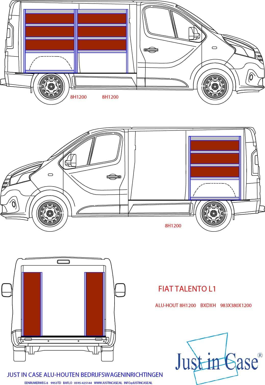 Fiat Talento inrichting bedrijfswagen