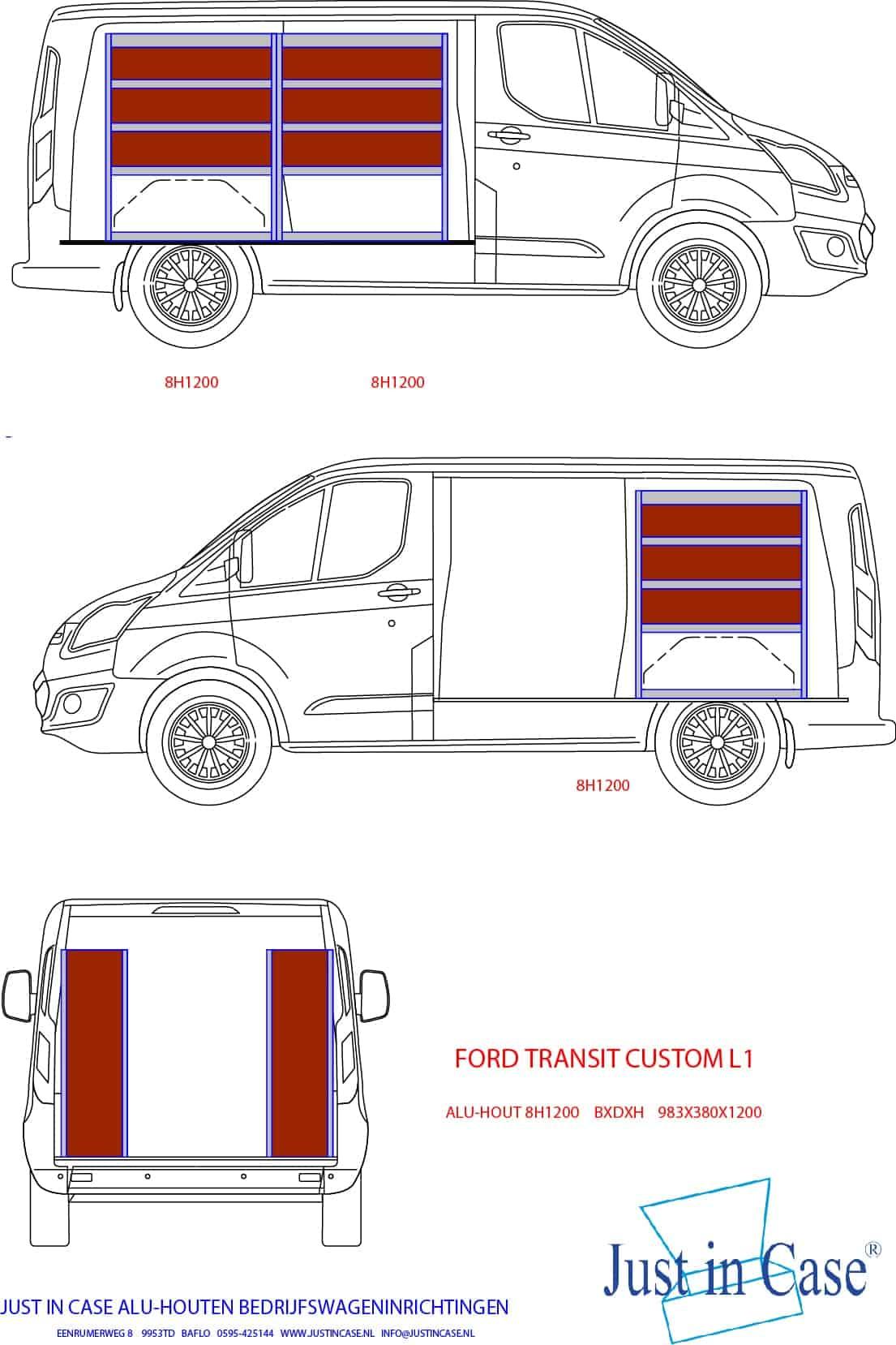 Ford Transit Custom bedrijfsbus inrichten