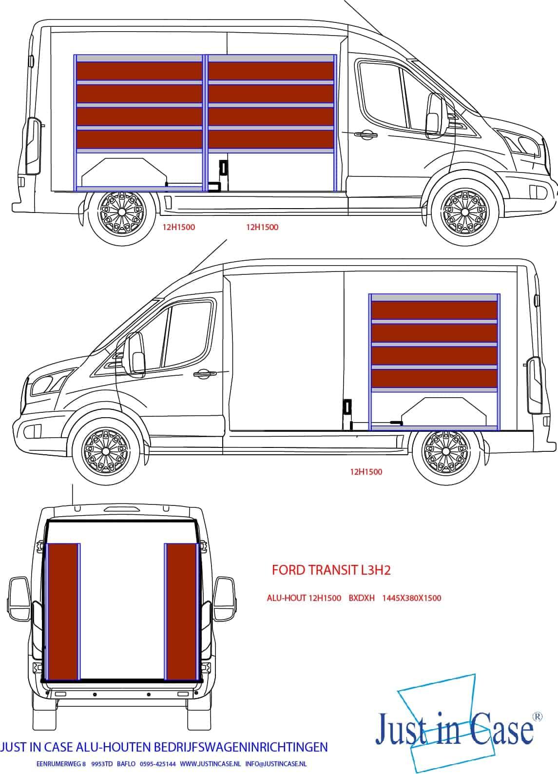 Ford Transit bedrijfswageninrichting