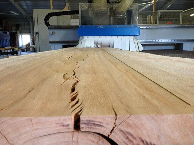 CNC Frees voor het vlakken van hout