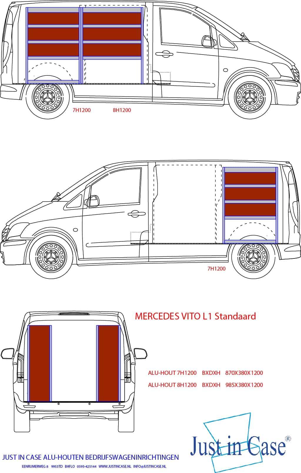 Mercedes Vito bedrijfswagen inrichten