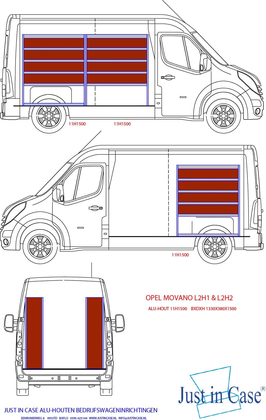 Opel Movano (L2) schets
