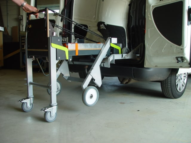 Brancard systeem voor bedrijfswagens