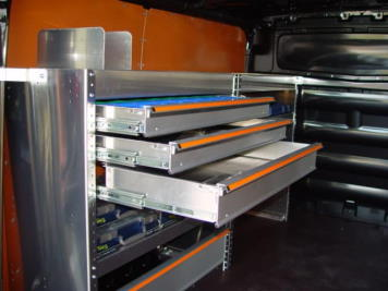 Finnerup aluminium stellingen / kasten / lades